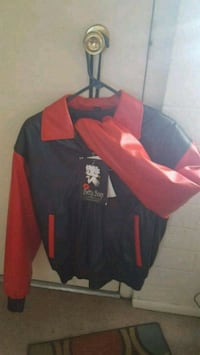 black and red zip-up jacket St. George, 84770