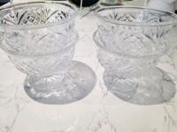 Crystal like ice cream or dessert bowls (set of 4) Caledon, L7E 2L7