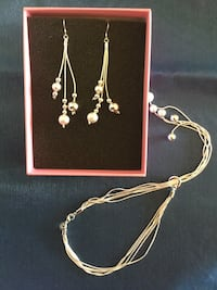 Long earrings with matching necklace  together NEW in gift box / Visit for more jewelry ! Alexandria, 22311