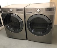 Lg steam washer and gas dryer set  Corona, 92879