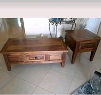 3 wood tables mint condition contemporary style Fort Lauderdale, 33315