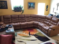 Leather sectional with recliners  Hollywood, 33020