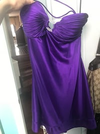 Party dress! Purple in colour only worn once.  Size small!