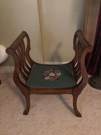 Vintage Mahogany Curule Bench Chair