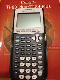 Texas Instruments graphing calculator - mint condition. Comes with manual and popular book.orginal value for 2 books and calculator: $165