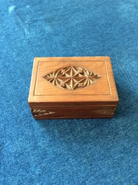 Old carved wood box 2245 mi