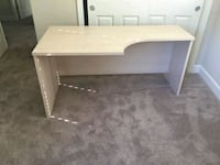 white wooden single-pedestal desk 2379 mi
