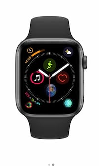 Black Apple Watch series 4 with black sports band 44 mm GPS only Sterling, 20164