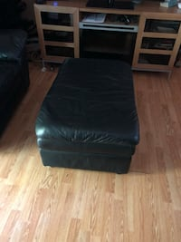 black leather padded ottoman chair Pickering, L1V 2T2