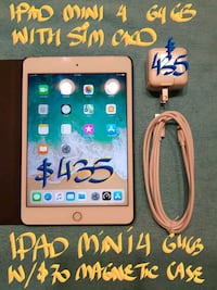 FIRM $435 orTRADE IPAD MINI 4 64GB+SIM+$70CASE Pointe-Claire, H9R 3A3