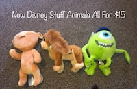 New Disney Stuff Animals All For $15 Des Moines, 50314