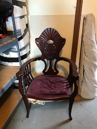 brown wooden framed brown padded chair Linthicum Heights, 21090