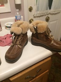 Pair of brown leather boots Hanover, N4N 1Z9