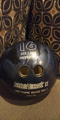 16lbs bowling ball.