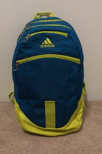 Blue and yellow/green adidas backpack  Langley, V3A 3P8