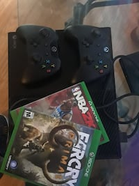 Xbox One console with controller and game case