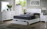 Queen bed frame with underbed storage  Downey, 90241