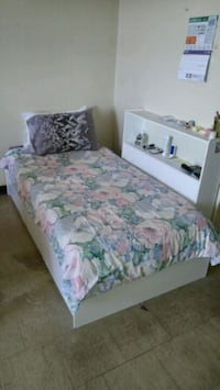 Bed frame + three built-in drawers + shelf stand Toronto, M1L 3E8