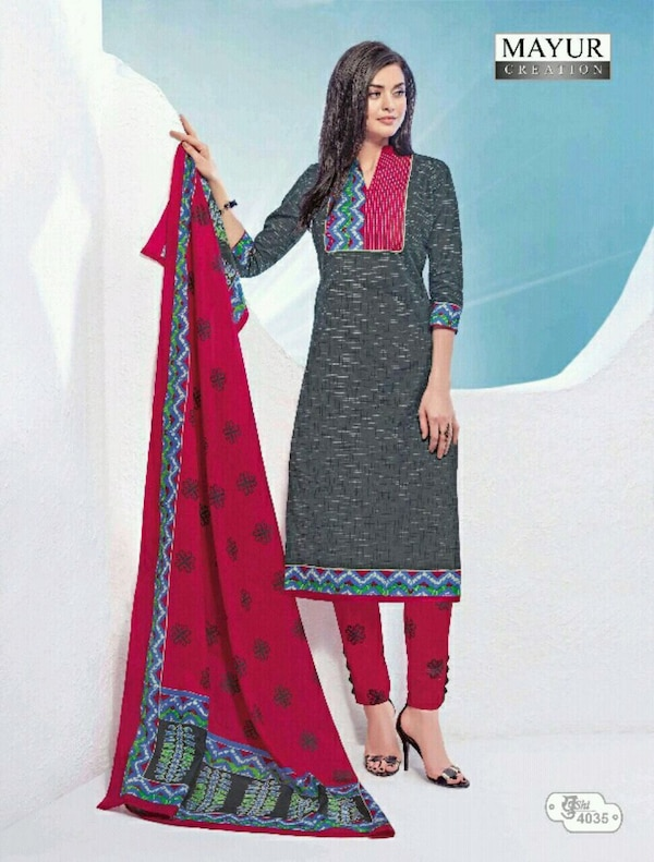 women's Pure Cotton Printed Dress Materials