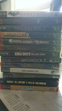 assorted Sony PS4 game cases Shafter