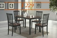 Laurel Espresso/Cherry Dining Set Houston, 77036