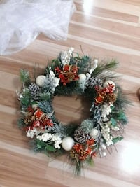 24'' Christmas wreath-used once Pearland, 77584
