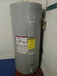 grey Whirlpool water heater