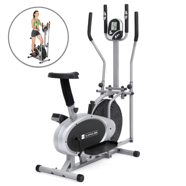 Elliptical Machine Cross Trainer 2 in 1 Exercise Bike Cardio Fitness Home Gym Equipment