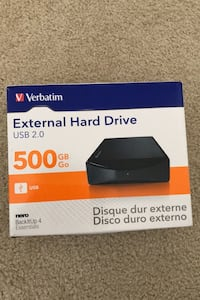 Verbatim 500gb External Hard Drive