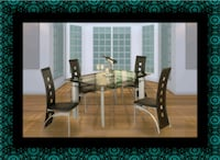 Glass dining table with 4 chairs Herndon, 20171
