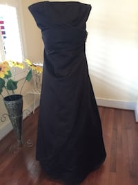 Strapless formal black gown/ prom Frederick