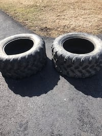 two black auto wheel with tires Martinsburg, 25404