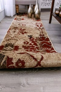 Red Hallway Runner Rug 2X8 Carpet
