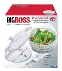 Big Boss Vegetable Grater and Salad Spinner 8-Piece Set Calgary, T2A