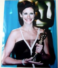 Autographs: Julia Roberts And Hugh Grant Hand Signed Apx 4 1/2 x 10 1/2 Thin Stock Card Dover
