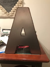 "Decorative Metal ""A"""