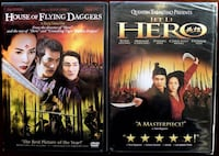 """Buy Two Award Winning Martial Arts Films -  DVD Movies - """"HOUSE OF FLYING DAGGERS"""" & """"HERO"""" -2 DVD Movies - $5 (Bethesda)"""