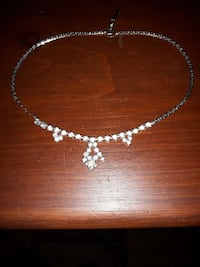 silver-colored diamond studded necklace Belleville, K8N 4Y9