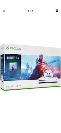 BRAND NEW XBOX ONE S 1TB BATTLEFIELD BUNDLE WHITE NEVER USED