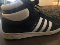 Adidas blue suede mens high top runners ~ size 11