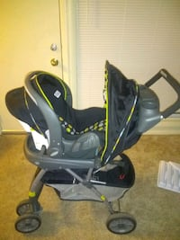 Gently used stroller with car seat