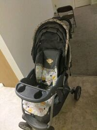 baby trend's black and gray stroller Owings Mills