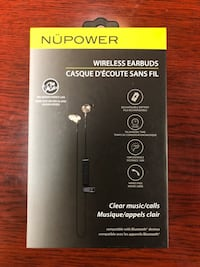NUPower wireless earbuds with mic - Brand new in box Toronto, M1V 5C2