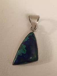 Navajo turquoise sterling silver pendant  546 km