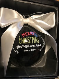 black Merry Christmas decorative baubles Villa Rica, 30180