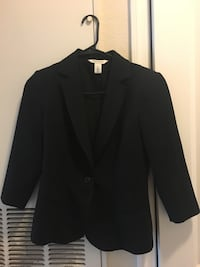 Black notch lapel suit jacket 313 mi