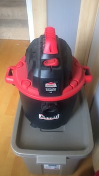 red and black Jobmate wet and dry vacuum cleaner Port Coquitlam, V3B 1V2