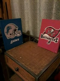 Buccaneers and lions paintings