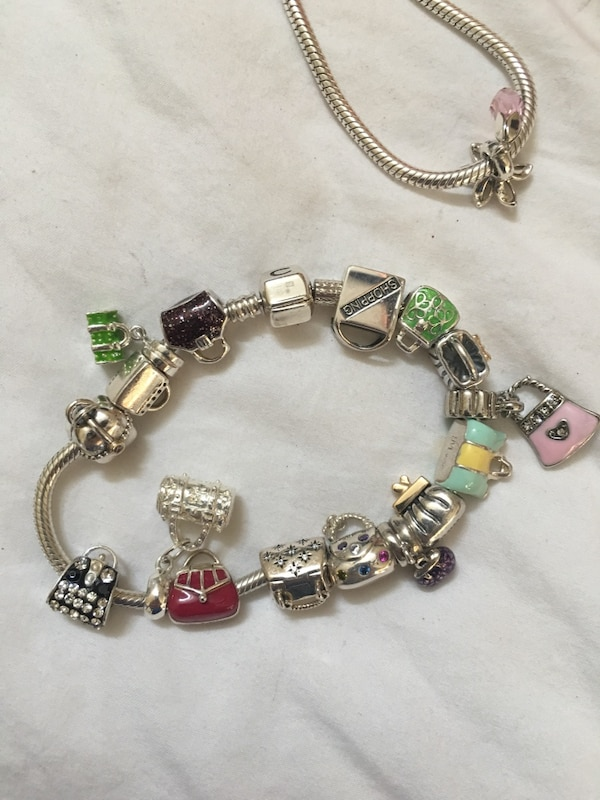 c538a2da1 Fully Loaded Pandora Bracelet With Purse Charms Paid Over 800