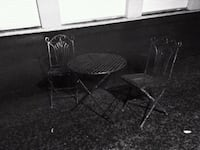 Vintage cast iron table and chair Madison Heights, 24572